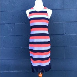Tory Burch 'Ariana' dress, orange&blue, size Small
